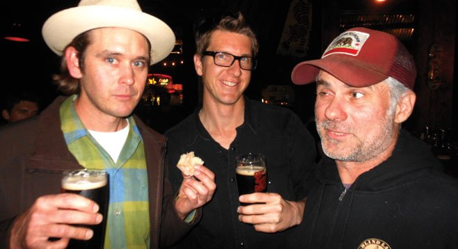 Owners Lee Chase (left) Jeff Motch (right) with manager Morgan Wood (Center)
