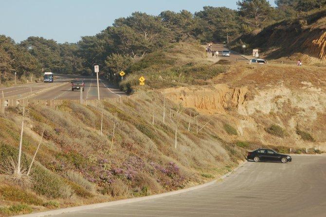 Make a choice: 1.5 miles or a steeper 0.5 miles