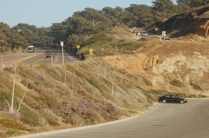 Make a choice: 1.5 miles or a steep 0.5 miles