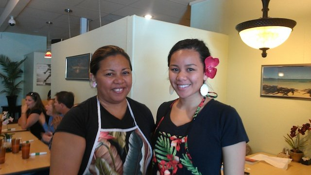 Owner Terri Villanueva and her daughter Kawai.