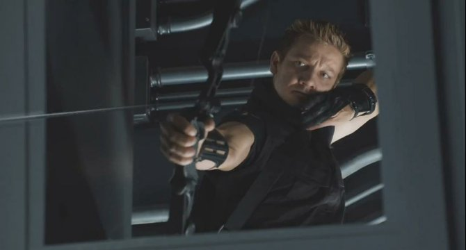 "Jeremy Renner in ""The Avengers."""