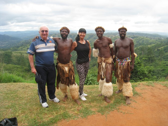 Jean and Ritchie with the Zulu Tribe in South Africa 2010