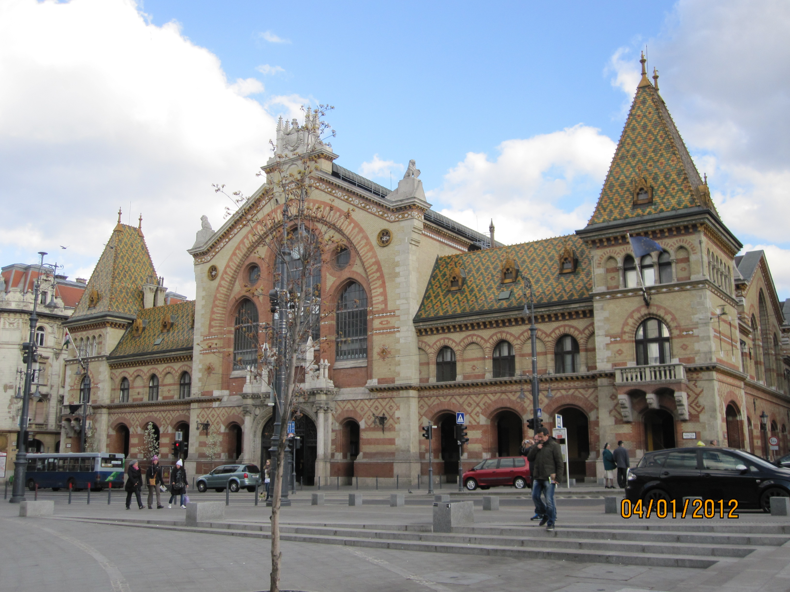 There was as many tourists as local residents shopping at the Central Market, in Budapest.