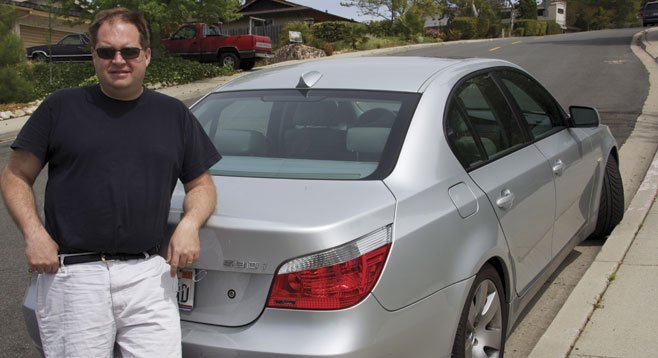 Mark Rasmussen worries about his BMW, now with no warranty.