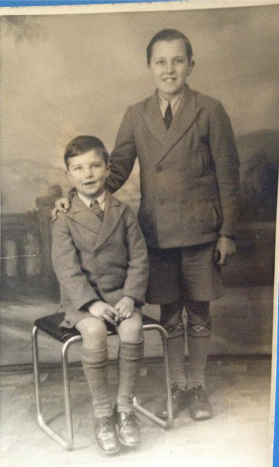 "A photo of his father (left) and uncle ""borrowed"" from Gary Dawson's Facebook page."