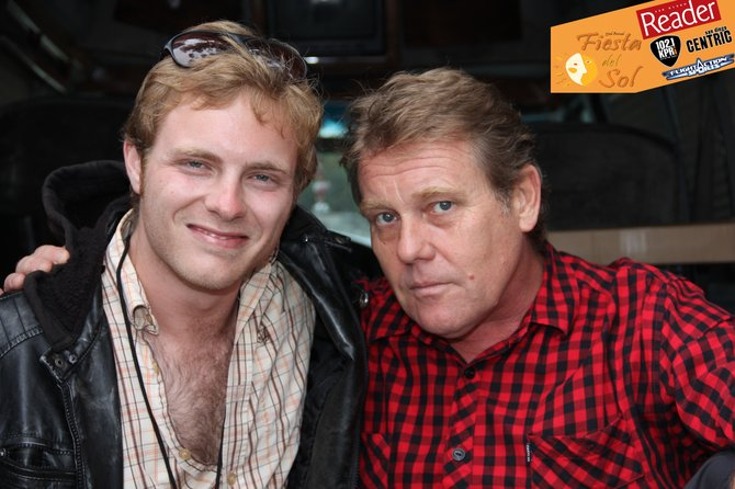 Dan Brozo of KPRi with Dave Wakeling of the English Beat post-interview