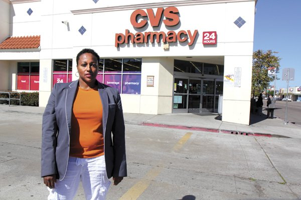 Rashida McElvene was leaving the parking lot of this Hillcrest CVS  when she and her partner saw someone being attacked across the street.