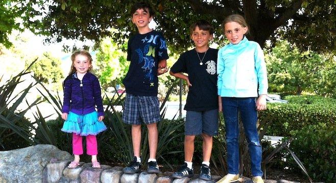 Olivia, Liam, Brian, Bella