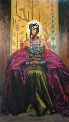 """""""Tuskegee Memorial Piece"""" is one of my favorite Rushing paintings."""