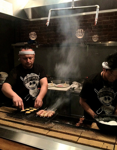 The open yakatori grill.