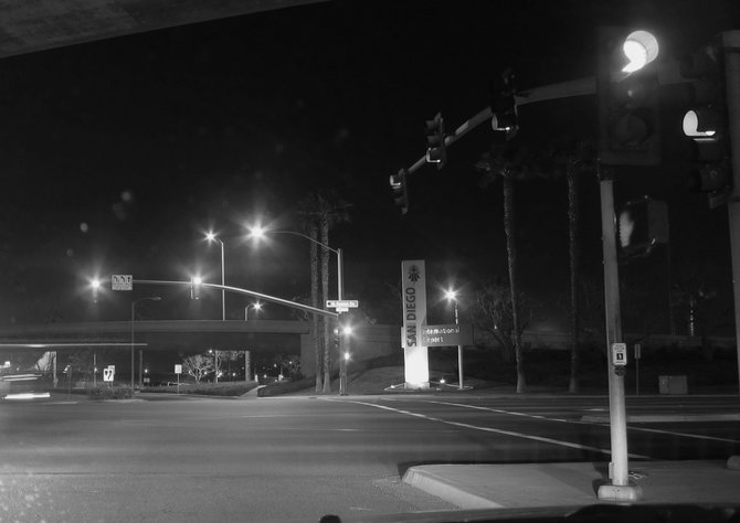 Intersection by the airport and Harbor Island