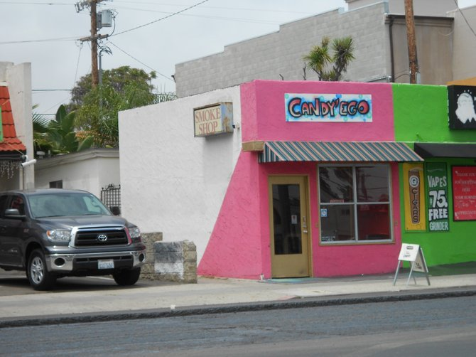 Cute candy store along Garnet Ave. in P.B. now closed.