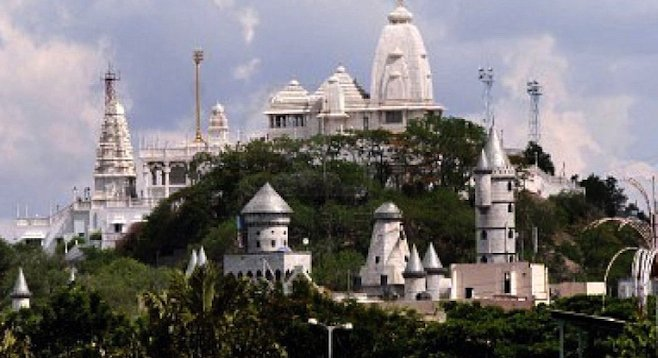 Hyderabad's impressive Birla Mandir temple affords a panoramic overlook of the city.