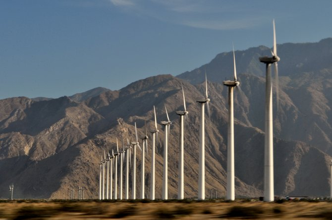 Palm Desert windmills