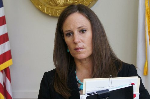 Prosecutor Tracy Prior charged Flores with more than 40 felonies. Photo Bob Weatherston.