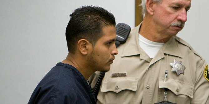 Ruben Anthony Cepeda brought into court. Photo Nick Morris.