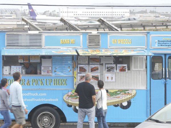 Hoangie's Banh Mi on Wheels serves Vietnamese sandwiches near Lindbergh Field.