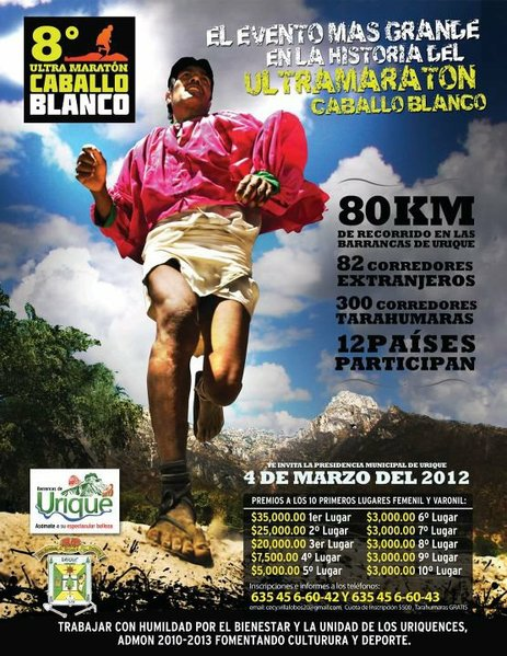 Publicity Flier for the 2012 Ultra Marathon