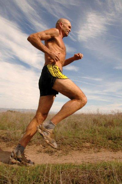 Caballo Blanco on the run.