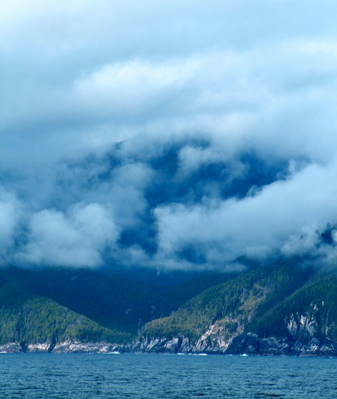 Clouds above the Queen Charlotte Islands.