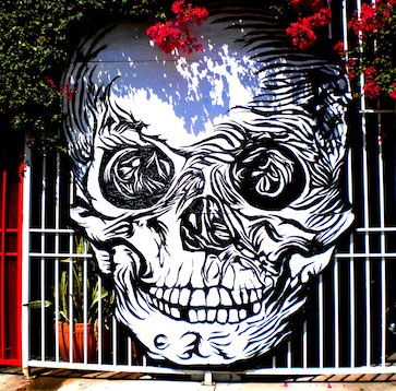 A friendly face welcomes you to Hollywood's Museum of Death.