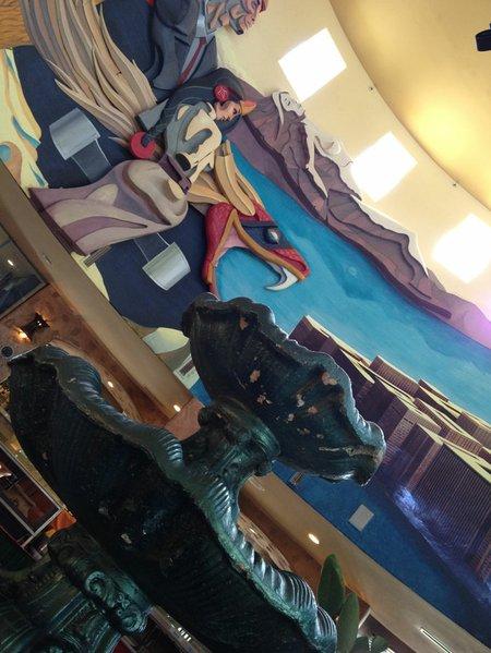 The art lining the high ceilings at Mi Guadalajara