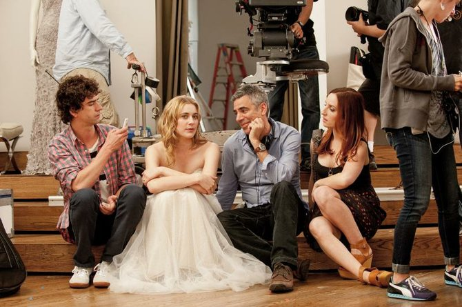 Hamish Linklater, Greta Gerwig, producer Michael London and Zoe Lister-Jones