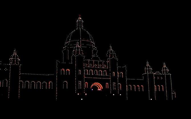 Parliament lit, Victoria BC