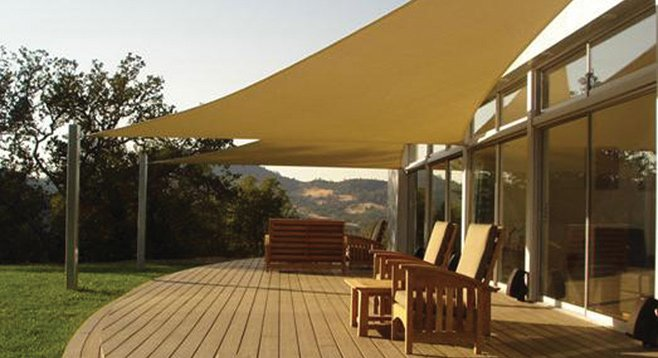 Shade sails to beat the summer heat san diego reader for Shade sail cost