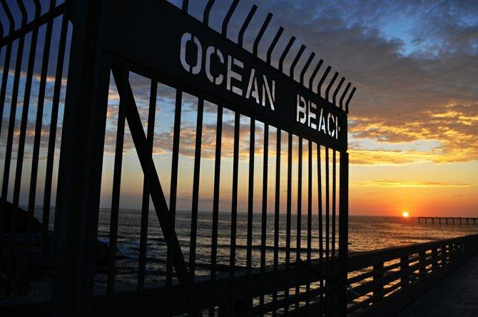 The sunset at Ocean Beach
