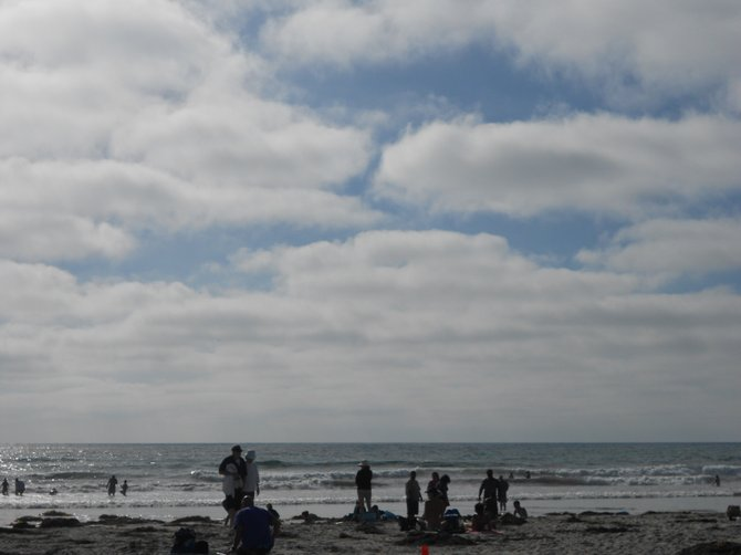 Low clouds on their way in after a sunny day in La Jolla.