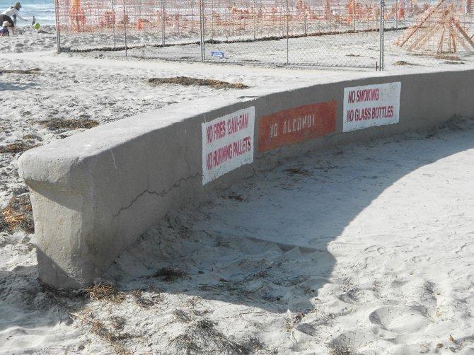 Near construction area of new La Jolla Shores Lifeguard station.