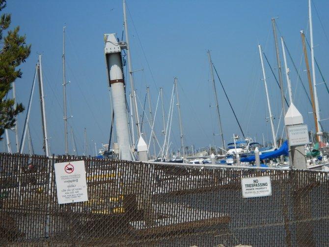 Fenced off Southwestern Yacht Club in Pt. Loma.
