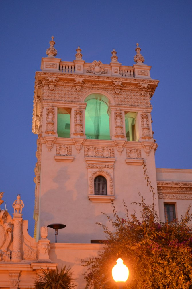 The tower that glows.