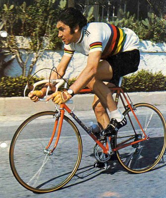 Famous picture of Eddy Merckx, greatest bike racer of all time.  He would be all over this brunch deal.