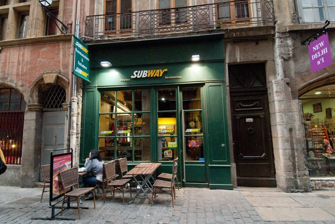 Subway in Lyon, France