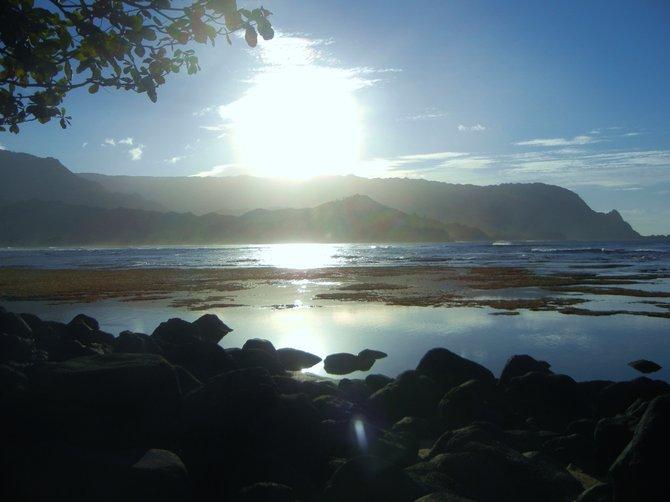 Sunset over Sleeping Giant- Kauai, HI