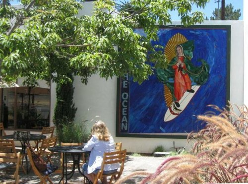 Surfing Madonna at new location.  Photo Bob Weatherston