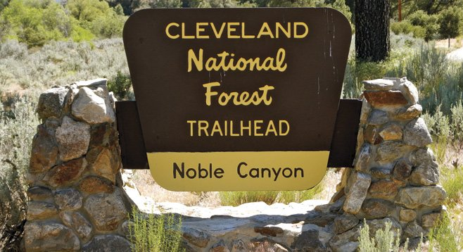 Noble Canyon trailhead