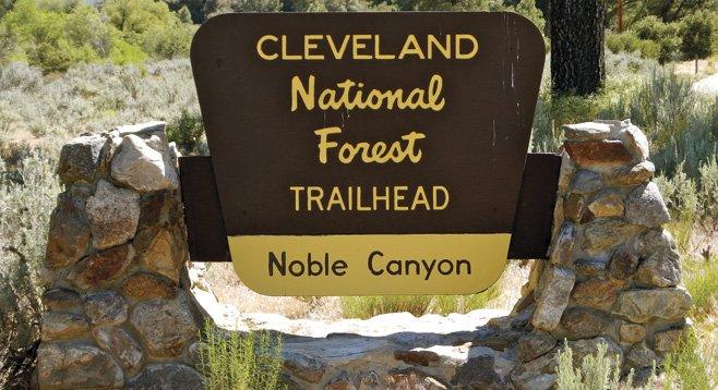 Noble Canyon trailhead