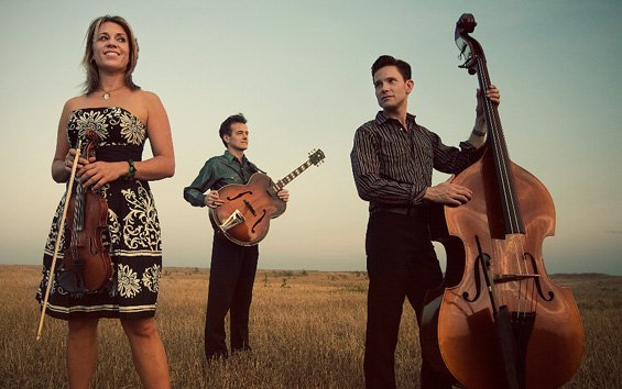 New York swing trio Hot Club of Cowtown hits the Griffin Tuesday.