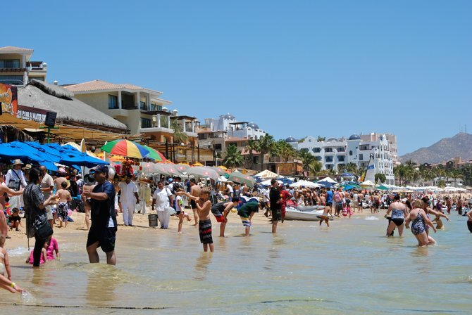 A hot, but beautiful day in Cabo San Lucas, Mexico