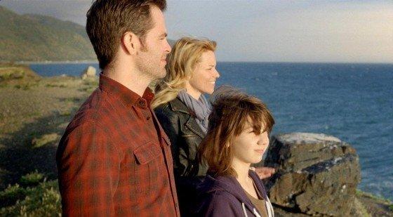 Chris Pine, Elizabeth Banks, and Michael Hall D'Addario.