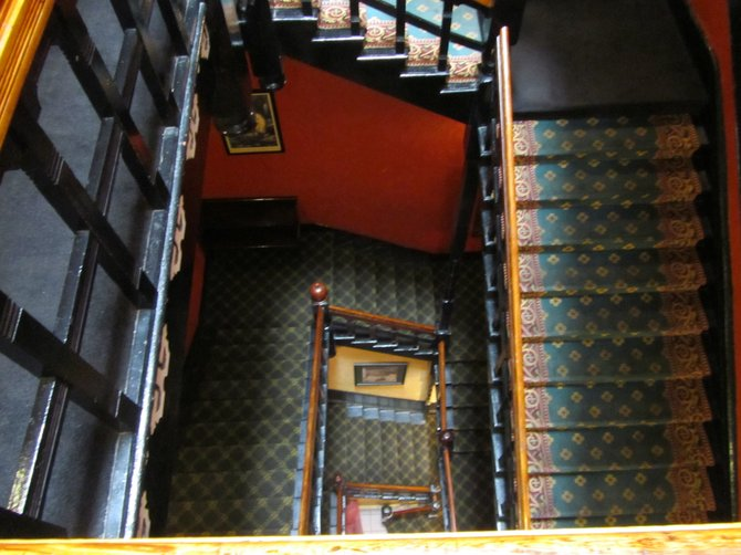 Squeaky stairs in the Haunted Crescent Hotel in Eureka Springs, AR.....Booo!!!