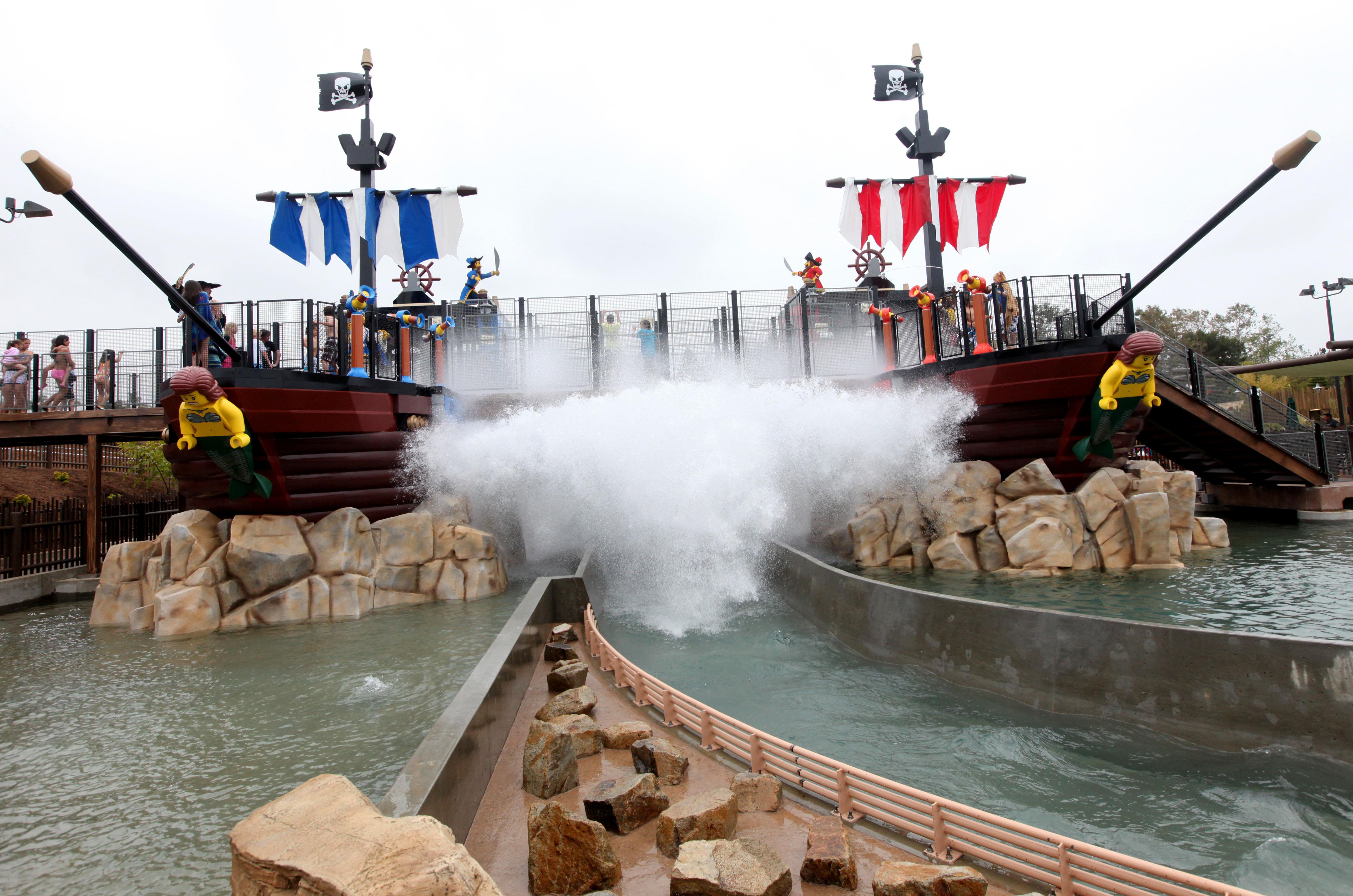"Pirates battle on the ""high seas"" at LEGOLAND's Water Park. Photo courtesy of LEGOLAND California Resorts."