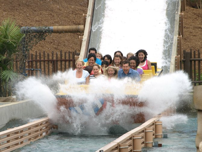 Riders at Pirate Reef, newest attraction at LEGOLAND's Water Park. Photo courtesy of LEGOLAND California Resort.