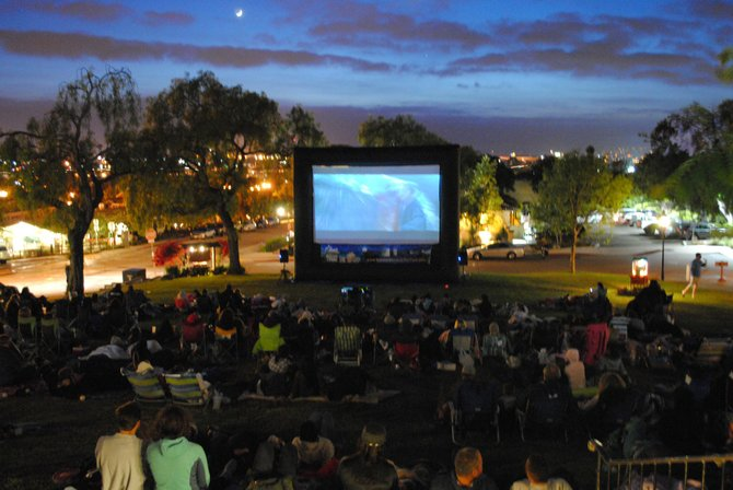 Summertime outdoor movies at Heritage Park, courtesy of County Department of Parks and Recreation.
