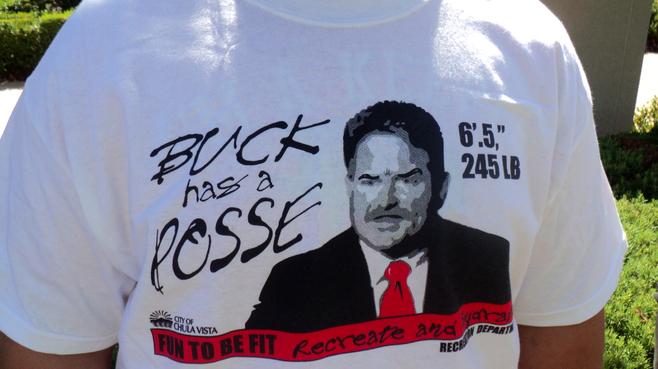 A Buck Martin supporter's T-shirt