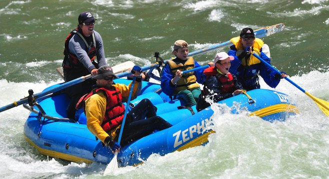 Class 3 rapids are six hours away from San Diego on the King's River.