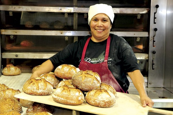 Lorena Valasquez worked her way up from cafe cleaner  to head baker at Bread & Cie's Cafe.